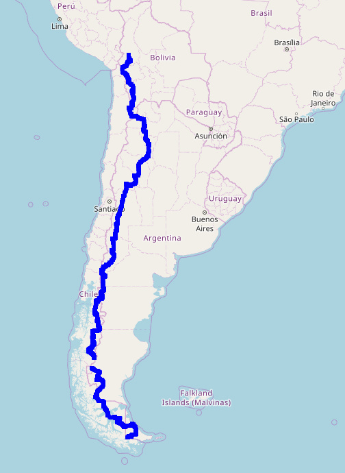 South America 2017-2018 route overview