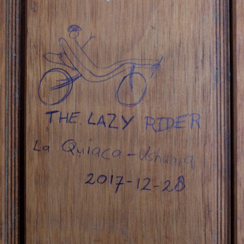 Lazy Rider Drawing